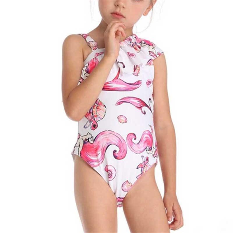 Familia juego traje de baño Floral bikini juego madre hija traje de baño mujeres una pieza traje de baño de los niños traje de baño