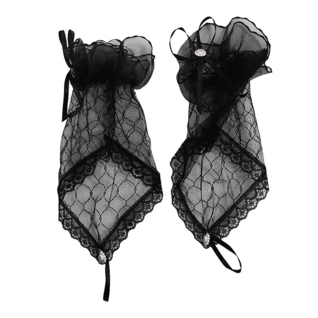 Lace Fingerless Gloves Burlesque Clubwear Party Wear Fancy Dress