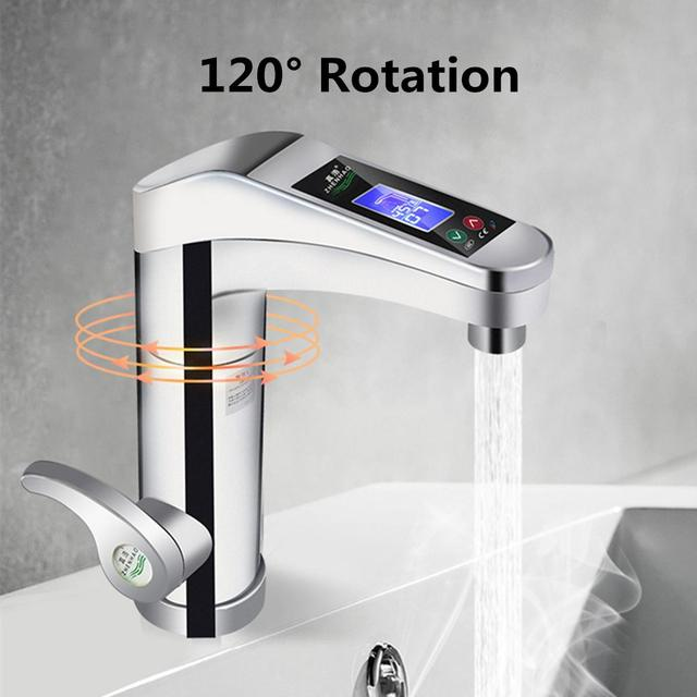 led electric faucet tap hot water heater instant hot cold water rh aliexpress com bathroom faucet water pressure low bathroom water faucet handle