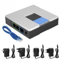 Шлюз VoIP Интернет телефон адаптер с 2 портами SIP RJ45 кабель для Linksys PAP2T 100-240 В ЕС, США, Великобритании AU