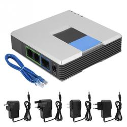 VoIP Gateway Internet Phone 2 Ports Adapter SIP RJ45 Cable for Linksys PAP2T 100-240V EU US UK AU