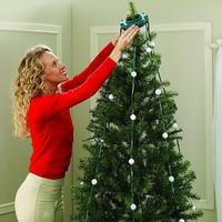 RGB Remote Control Christmas Tree String Lights EU/US Plug 64Leds For Christmas String Light Wedding Party Holiday Tree Decor