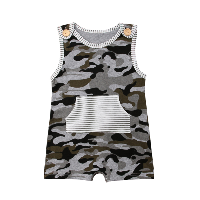 Toddler Baby Boy Camo Cotton   Romper   Jumpsuit Summer Clothes baby boy summer cotton sleeveless o neck summer clothes