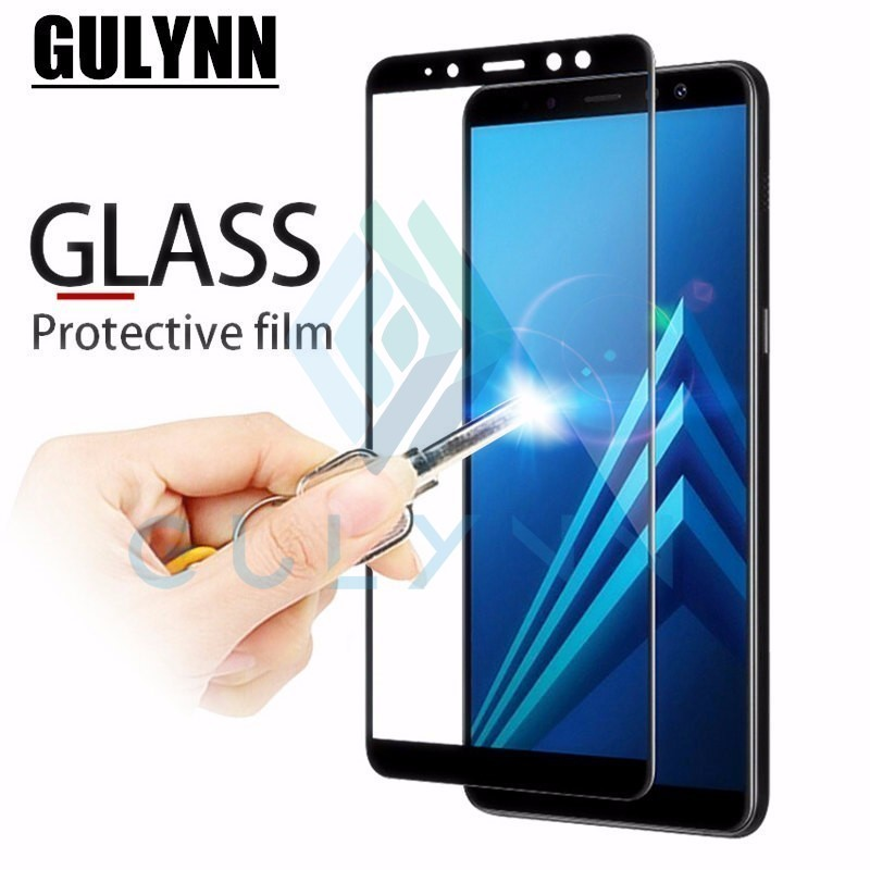 Full cover Tempered Glass For <font><b>Samsung</b></font> Galaxy A5 A6 A7 A8 <font><b>Plus</b></font> 2018 A10 A20 A30 A40 A50 9H <font><b>Screen</b></font> Protector 2.5D <font><b>Protective</b></font> Film image