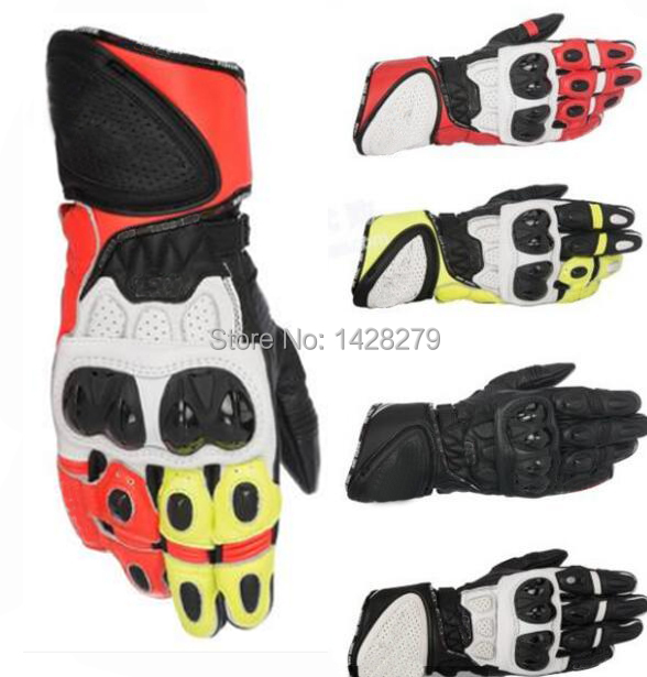 Motorcycle Riding Leather Full Finger Gloves Motocross Off Road A stars GP PLUS Spring Summer Gloves