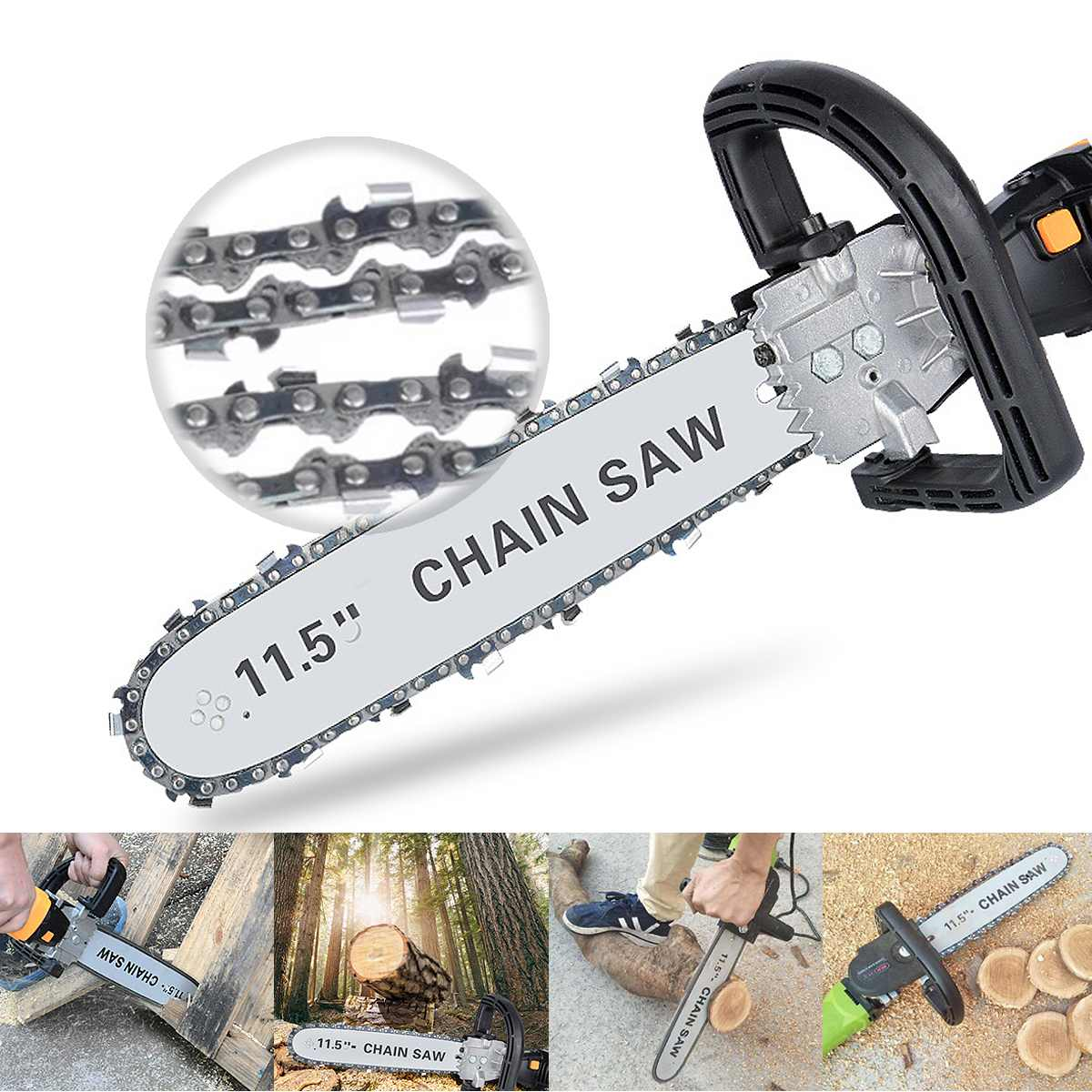 220V 650W Electric Chain Saw Angle Grinder Bracket Kit Chainsaw for Woodworking Cutting Saw Chain Tool Set Portable menu чаша black contour