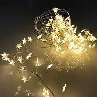 PVC Star fairy firecrackers lights 82.68 Length ,148 LEDs copper light string christmas garland party LED chain lights decor