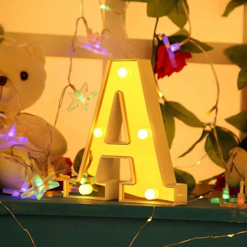Warm White LED Marquee Sign Alphabet Light 3D 26 Letters  Birthday Party Decor Lamp Romantic Atmosphere room decor Light