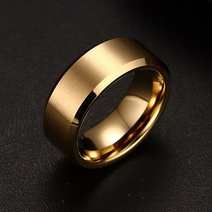 8mm Brushed Mens Ring Tungsten