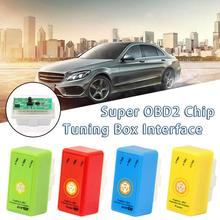 New Style 1pc Fuel Economizer Plug And Drive Super OBD2 Performance Chip Tuning Box Car Diagnostic Tool For Benzine Cars car fuel saver eco obd2 benzine gasoline cars economy chip tuning box plug and drive eco obd2 interface 15