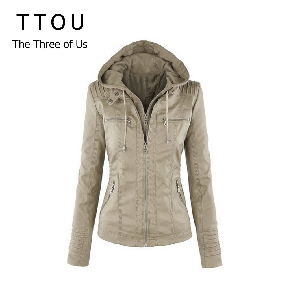 TTOU Women Winter Faux Leather   Jacket   Casual   Basic   Coats Plus Size Ladies   Basic     Jackets   Fashion Windproof Coats Female