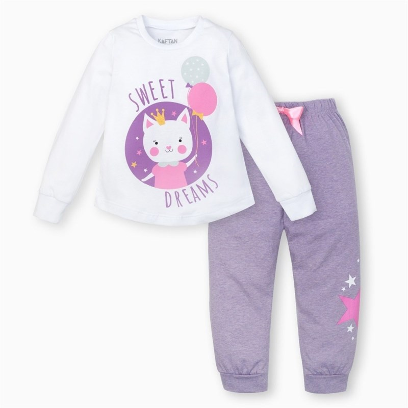 Pajama pants and jumper Kitty 3 6g. 95% cotton 5% elastane pajama lace trim cami top and shorts