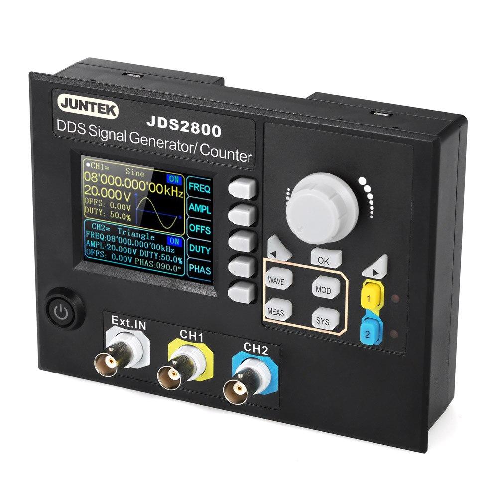 KKMOON JDS2800-60M Signal Generator Digital Control Dual-channel DDS Function Signal Generator frequency meter 60MHZKKMOON JDS2800-60M Signal Generator Digital Control Dual-channel DDS Function Signal Generator frequency meter 60MHZ