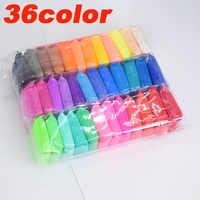 36 farben/Set Flauschigen Schleim Spielzeug Kitt Weichen Ton Antistress Licht Plastilin Schleim Liefert Sand Zappeln Gum Polymer Clay für Kinder