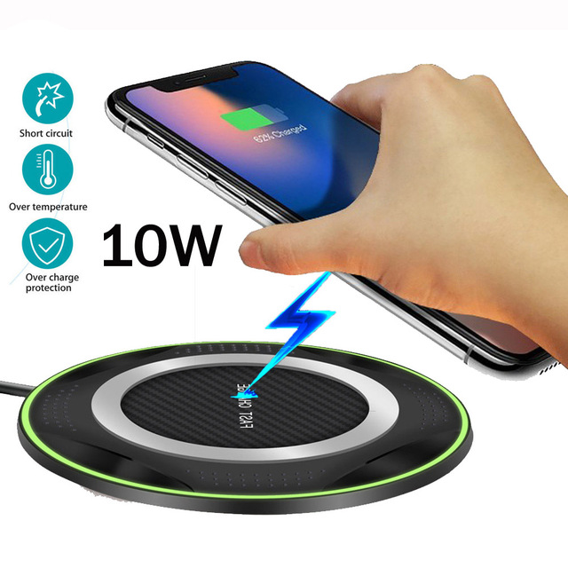 For Huawei P30 Pro Mate20 Pro Samsung S10 e/S9/S7/S8 iPhone XS Max/X Xiaomi Mix 2S/3 10W Qi Wireless Charger Fast Charging Pad