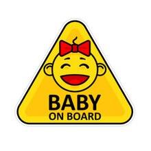 Cartoon Car Sticker PVC Creative Baby on Board Decor Auto Detailing Waterproof
