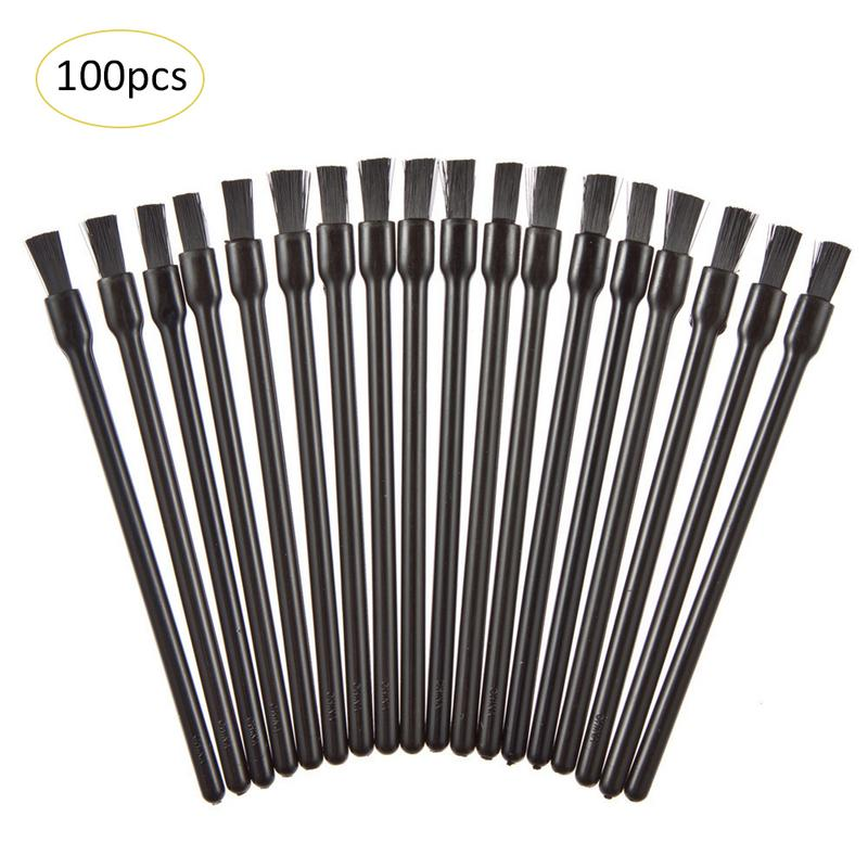 100pcs Disposable Cosmetic Makeup Lip Brush Lipstick Lip Glossy Wands Pen Cleaner Applicator Eyeshadow Brushes Tools