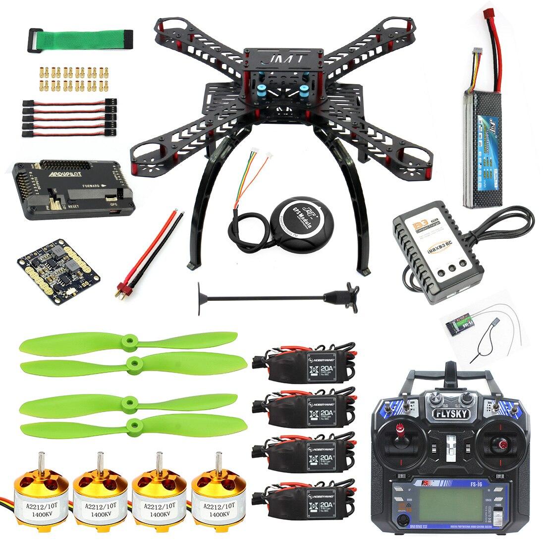 Full Kit DIY GPS Drone RC Carbon Fiber Frame Multicopter FPV APM2.8 1400KV Motor 20A ESC flysky 2.4GFS i6 Transmitter F14891 B