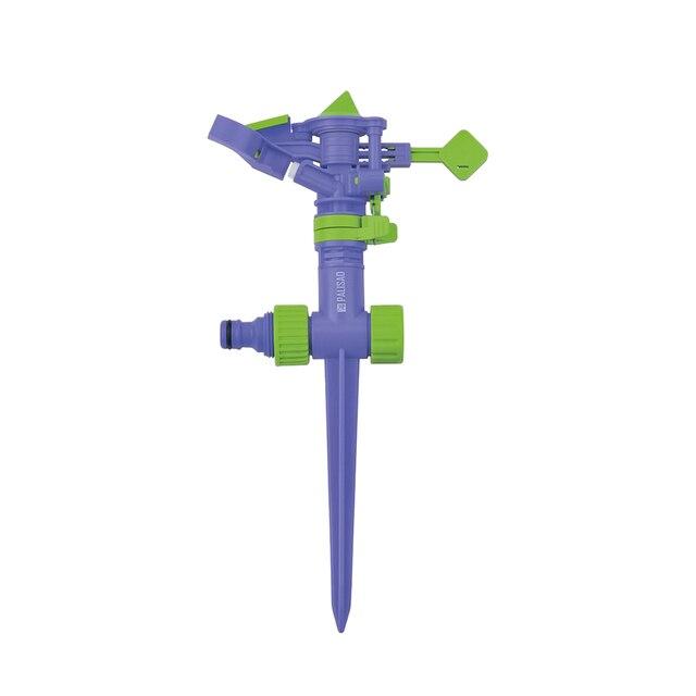 Садовый спринклер PALISAD 65414 пластиковый разбрызгиватель, импульсный, с регулятором скорости
