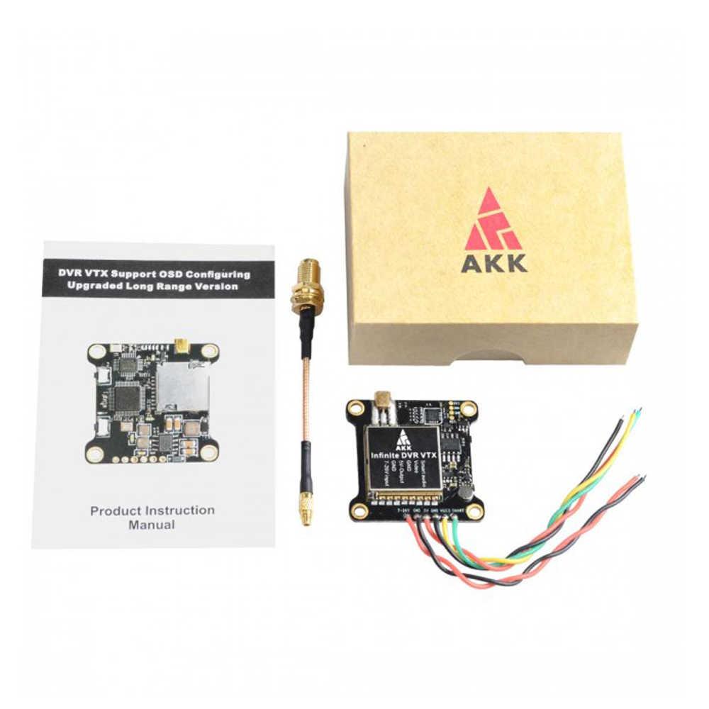 AKK אינסופי DVR VTX 25/200/600/1000mW כוח תמיכה חכם אודיו להחלפה FPV משדר עבור RC חלקי דגמים Accs
