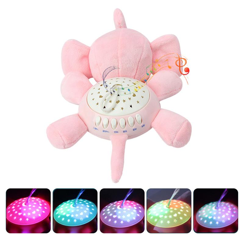 10CM Colorful Glowing Luminous Plush Baby Toys Lighting musical elephant Plush Baby toys Lovely Gifts for Kids