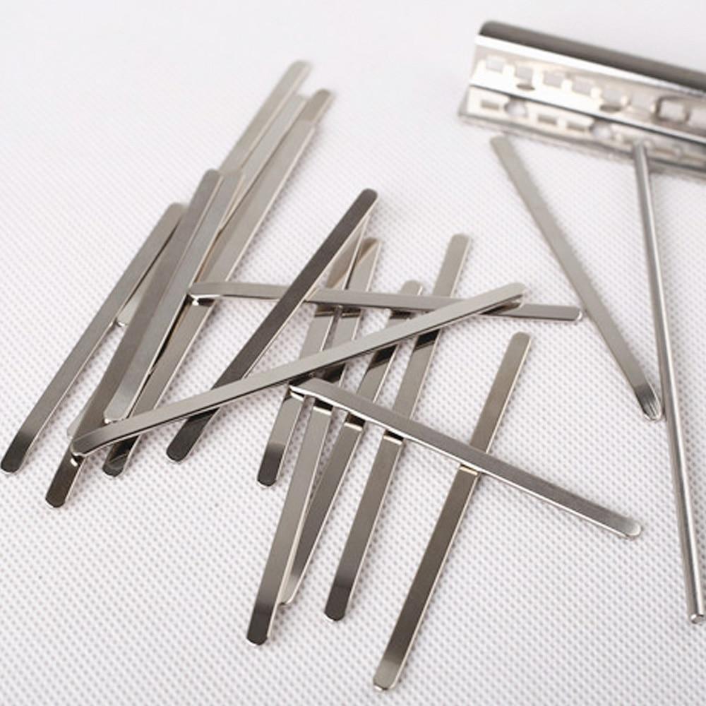 Марганцевая сталь облицованная никелем Замена покрытия 17 клавиш для Kalimba Африканский Mbira «пианино для больших пальцев» запчасти Музыкальные инструменты аксессуары