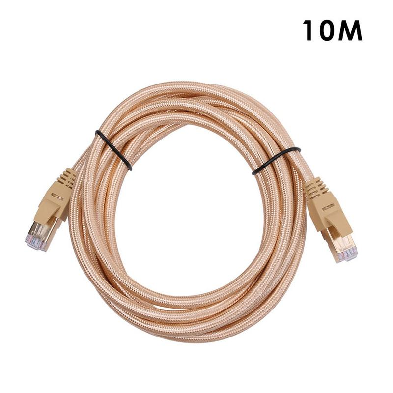 CAT7 Gigabit LAN Network Patch Cord Oxygen   free Copper STP Environmental Protection Network Jumper Seven Types Braided Wire 1M-in Computer Cables & Connectors from Computer & Office