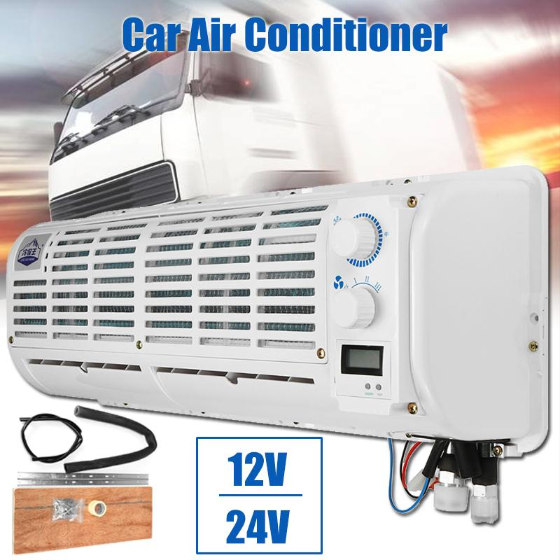 High Quality 12V/24V Car Air Conditioner Multifunction Wall-mounted Cooling Fan Digital Display For Car Caravan Truck PortableHigh Quality 12V/24V Car Air Conditioner Multifunction Wall-mounted Cooling Fan Digital Display For Car Caravan Truck Portable