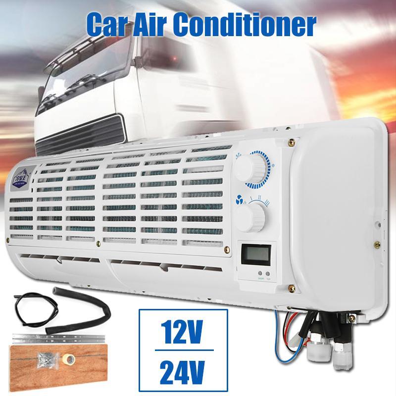 Aire acondicionado multifunción de 12V/24V para coche ventilador de refrigeración de pared con pantalla Digital para coche y caravana, portátil, gran calidad