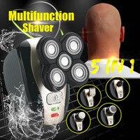 Compact Elektrische 5-Head Bald Head Scheerapparaat Oplaadbare Kaal Tondeuse IPX7 Mini Trimmer Razors