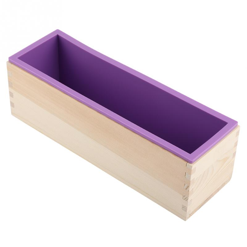 Zerodis Silicone Soap Mold Rectangular 1200g Wooden Soap Making Box With Flexible Liner For DIY Handmade Loaf Mould Soap Mold
