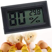 1pc digital incubadora termômetro medidor de umidade para ovos incubação pintos indoor temperatura conveniente