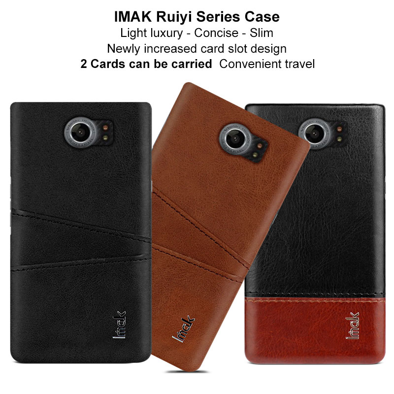 Imak Luxury Ruiyi case for Blackberry Priv Blackberry Venice Case Slim concise cases back cover phone shell coque business cover(China)