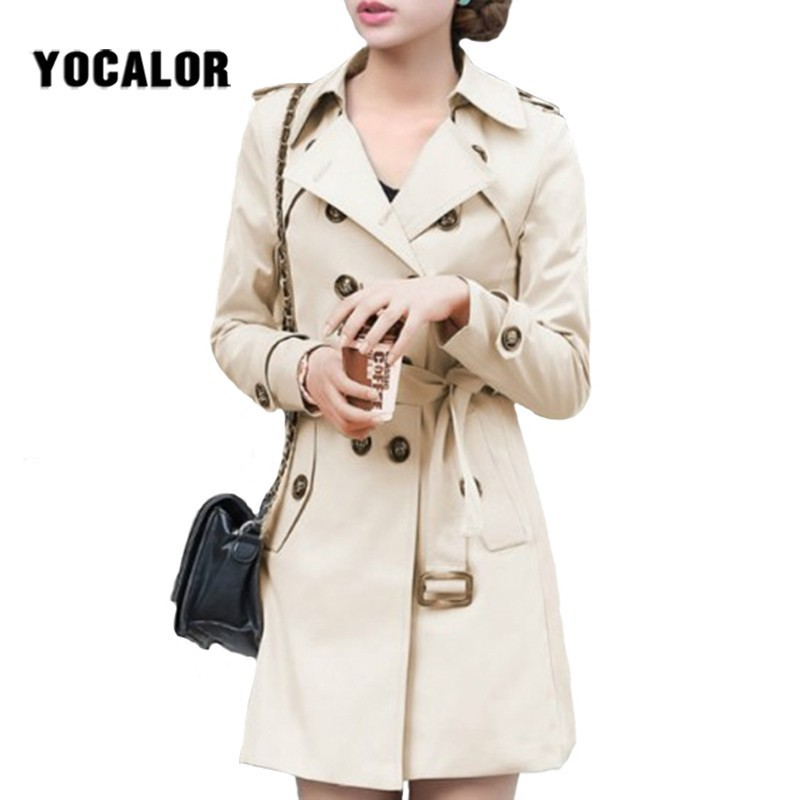 2019   Trench   Coats Coat For Women Slim Windbreaker Spring Coat Casaco Feminino Ropa Mujer Autumn Outerwear Manteau Femme Hiver