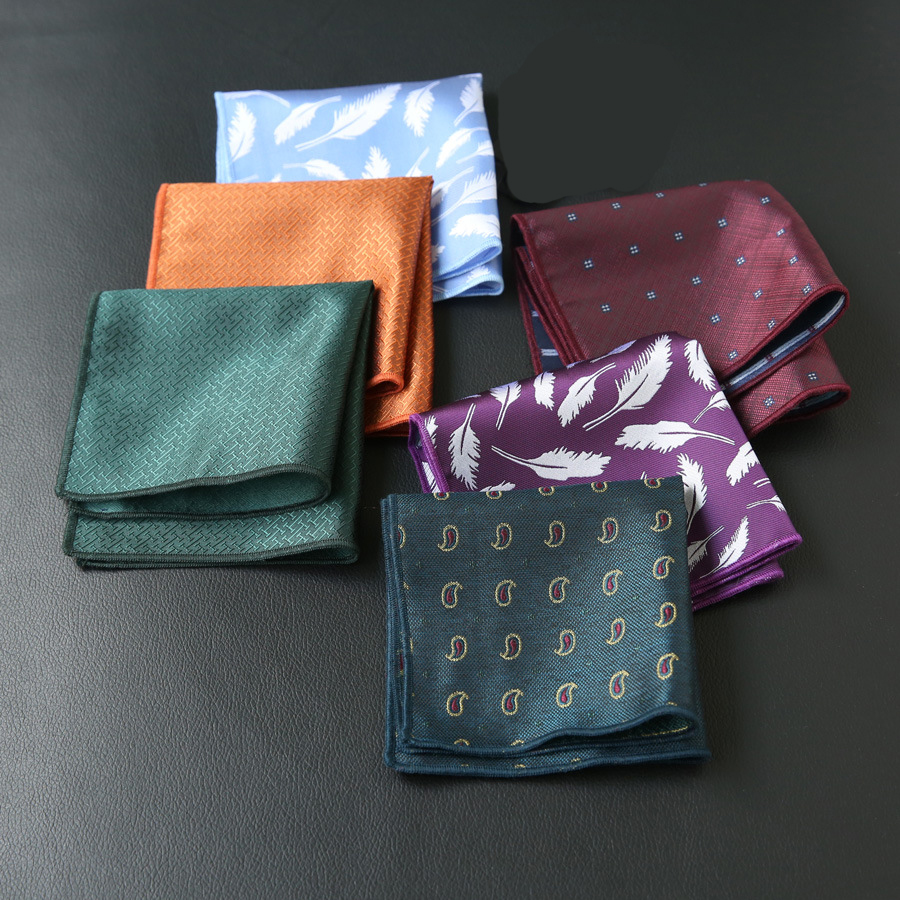 2019 New Spot Manufacturers Wholesale Suit Retro Pocket Towel Men's Suit Handkerchief New Pocket Square Can Be Customized