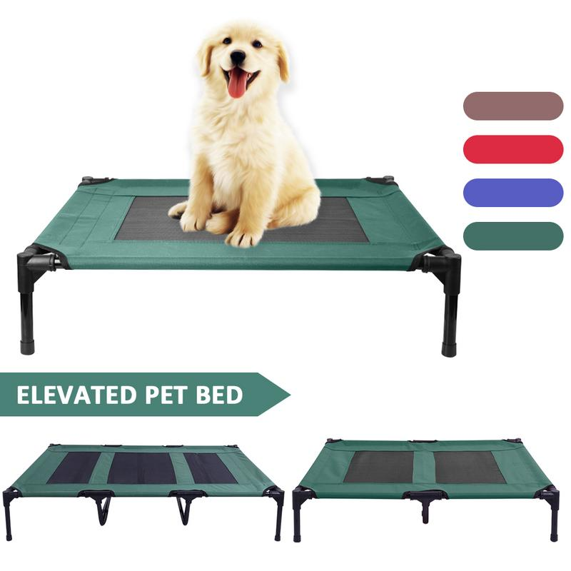 Elevated Pet Bed Detachable Summer Dog Cooling Bed Outdoor Breathable Mesh Raised Cat Puppy Bed Mat Dog Cot Sleep Camping Bed