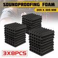 3x8 шт 305x305x45 мм Звукоизоляционная пена акустическая пена для обработки звука студия комната поглощающая плитка полиуретановая пена