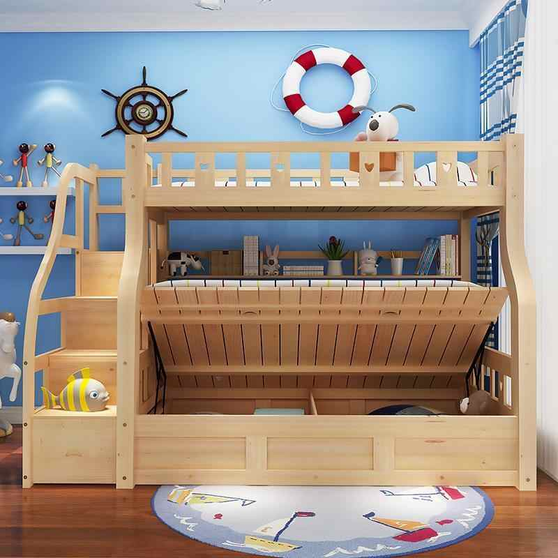 Matrimoniale Deck детская комната коробка Matrimonio набор современный освещенный Enfant Letto Mueble мебель для спальни современная Cama двухъярусная кровать