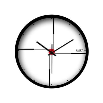 1PCS Wall Clock Large Mute Metal Frame Creative Modern Hanging Living Room Bedroom Household Clock without Battery