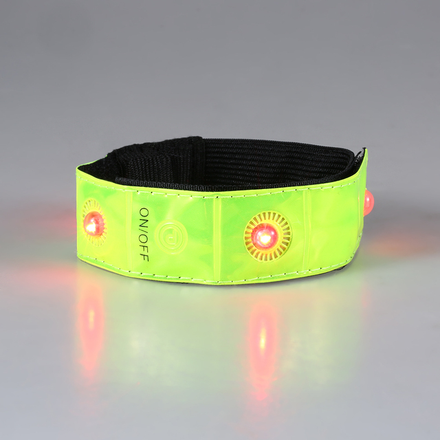 2/4pcs Reflective Wristband Outdoor Sports LED Night Safety Reflective Wrist Band Bracelet Running Cycling Jogging Armband