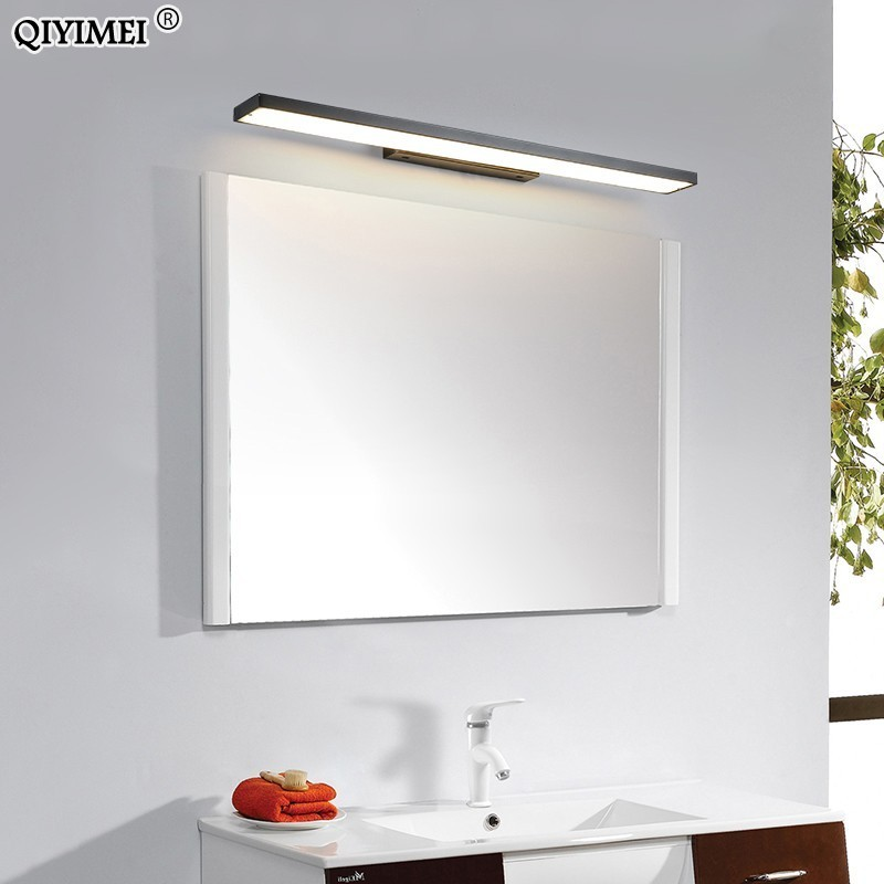 14w 20w 30w Led Wall Lamps for bathroom Living Room white black iron base Indoor mirror