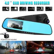 4.0 Inch 720P Full HD Car Rear View Mirror Dash DVR Dash Cam Video Recorder Len Camera Monitor Night Vision Auto Camcorder