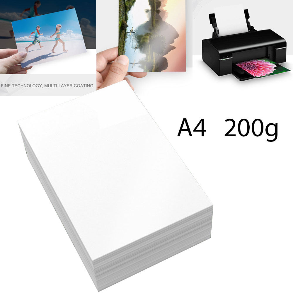 A4 Photo Paper Glossy Printer Photographic Paper High-gloss paper for Inkjet Printer Office Supplies 20 sheets / Pack