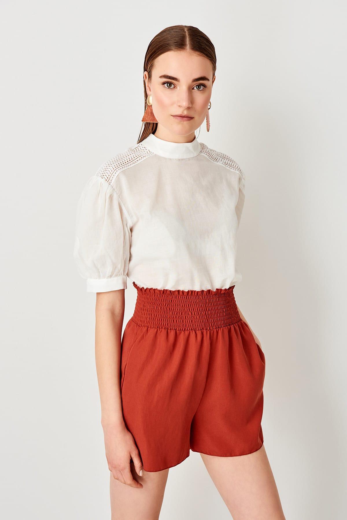 Trendyol Tile Gipeli Shorts TWOSS19EH0185