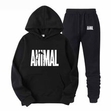 Brand Casual Mens Tracksuit Hip Hop Sweat Suits Sets Hooded Tracksuits Male Streetwear Jogger Top + Sweatpants Set Plus Size(China)
