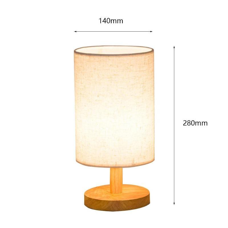 Indoor E27 Modern Vintage Bedside Lamp Shade Table Desk Bed Light Cover Holder Lampshades Bedside Lamp Night Light