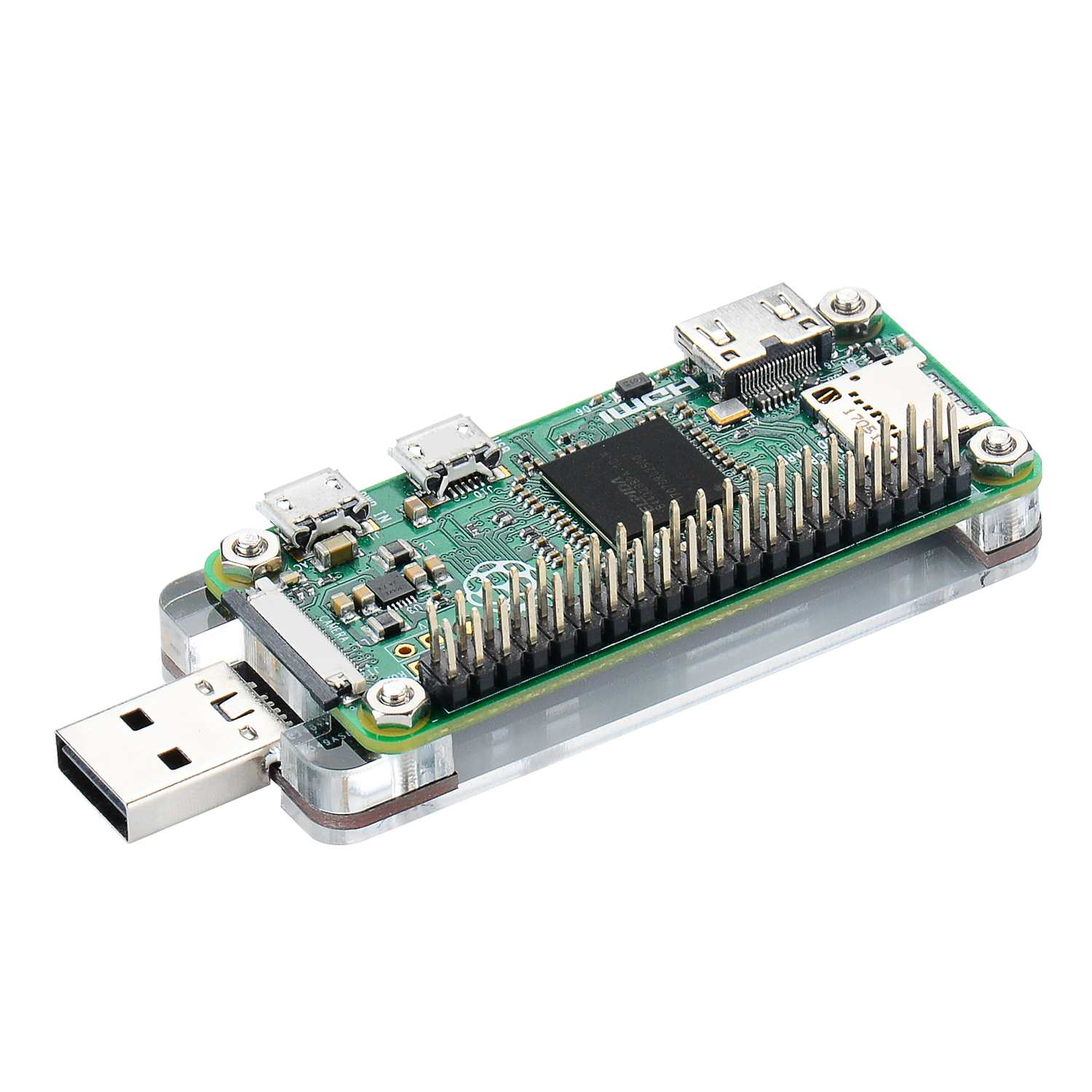 LEORY 1pc USB Dongle With Acrylic Shield Circuit For Raspberry Pi For Zero