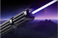 High power 450nm 500w 500000m Lazer Beam Military Flashlight blue laser pointers burning match/dry wood/black/cigarettes Hunting