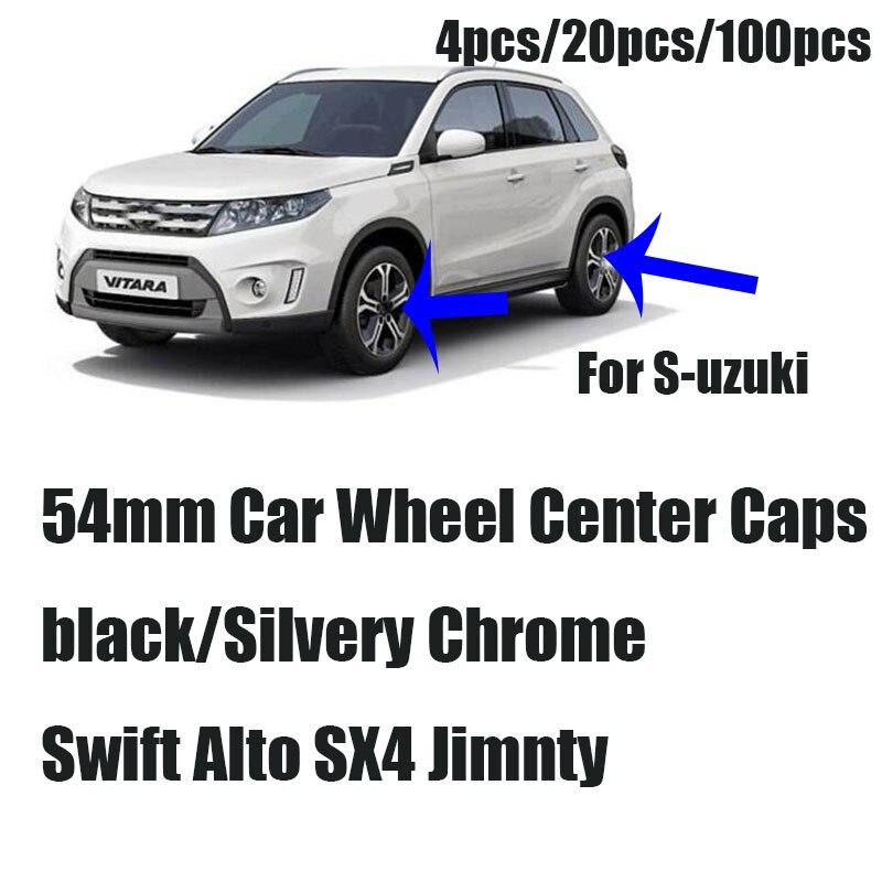 Auto-styling 54mm 4 pz 20 pz/100 pz Auto emblema logo distintivo del centro di rotella cap Auto ruote Coperture Per Suzuki Swift Alto SX4 Jimnty ..Auto-styling 54mm 4 pz 20 pz/100 pz Auto emblema logo distintivo del centro di rotella cap Auto ruote Coperture Per Suzuki Swift Alto SX4 Jimnty ..