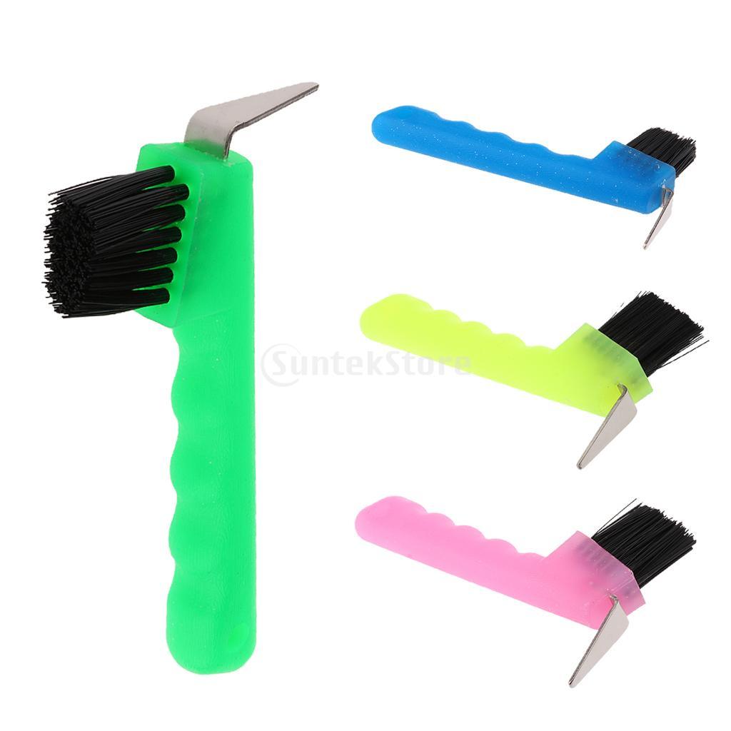 Копыта с щеткой оборудование для ухода за лошадью Инструмент Зеленый Розовый Синий флуоресцентный желтый